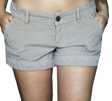 PANTALONCINI DONNA SHORTS SPORT FLYGIRL BEIGE COTONE MADE IN ITALY MINISHORTS...