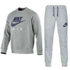 Nike Mens Crew Neck Grey Jogging Tracksuit Fleece