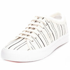 Fred Perry Men's Kendrick Tipped Cuff Retro Stripe Trainers Shoes B8267-560