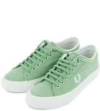 Fred Perry Men's Kendrick Tipped Cuff Brushed Coated Trainers Shoes B8265-C60
