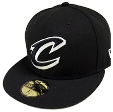 New Era Cleveland Cavaliers NBA Black White 59fifty Fitted Cap Limited Edition