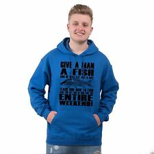 Mens Fishing Hoodie Funny Carp Gifts for Fisherman Novelty Fathers Day Gift Idea