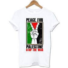Peace For Palestine Free Gaza Arabic Stop The War Men's Novelty Mens T Shirt #2