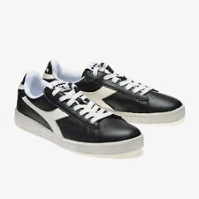 "SCARPE DIADORA 160821 GAME L LOW WAXED  NERE SNEAKERS VINTAGE ANNI ""70"