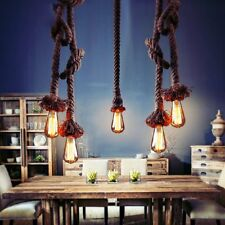 1/2 Rope Industrial Pendant Lamp Edison Retro Chandelier Lighting Ceiling Lights
