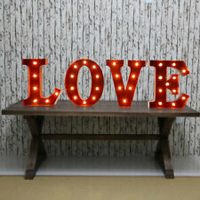 """12"""" Metal Marquee Light Up Letter Battery LED """"LOVE"""" Sign Alphabet Wedding Party"""