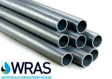 PVC Pressure Pipe Solvent Weld 2 x 1.2m length Metric 20 25 32 40 50 63 75mm OD