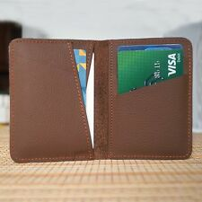Real Leather Bifold ID Credit Card Wallet Slim Pocket Case Holder