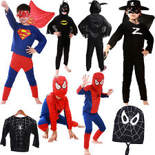 SEXY BATMAN SPIDERMAN SUPERMAN Zorro HALLOWEEN DISFRACES TALLA S M L niño NIÑO