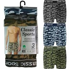 Mens Classic Sports Snug Fit Camouflage Design Boxer Shorts, Briefs, Underwear