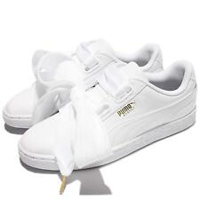 Puma Basket Heart Patent Wns Leather White Women Shoes Sneakers 363073-02