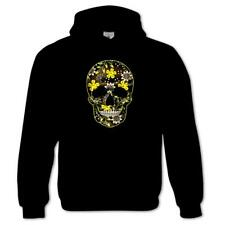 Flower Skull Day Of The Dead Mexican Candy indie Gothic Mens Hoodie #3