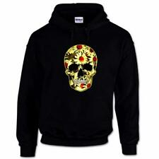 Flower Skull Day Of The Dead Mexican Candy Daisy Gothic Mens Hoodie #2