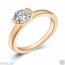 Stile Beautiful 24K Rose Gold Plated CZ Austrian Crystal Ring