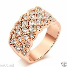 Stile Beautiful 24K Gold Plated Austrian Crystal Ring
