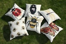 McAlister Textiles Bug's Life | Scatter Insect Tapestry Feel Cushion Cover 16x16
