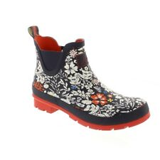Joules Wellibob - French Navy Ria Ditsy (Man-Made) Womens Wellies