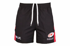 BLK Mens Saracens 2017/18 Players Rugby Gym Shorts Pants Sport Workout Training