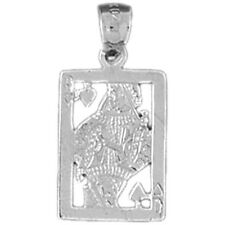 Silver 925 Playing Cards, Queen Of Hearts Pendant - AZ5442-925