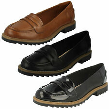 Clarks Mujer Charol Sin Cordones Planos Casual Mocasines Griffin MILLY