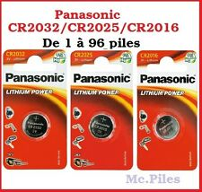 Piles/cells boutons Panasonic 3V lithium CR2025, free shipping !!
