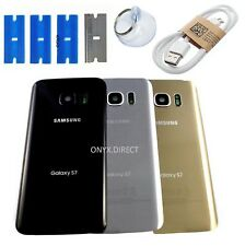 New SAMSUNG GALAXY S7 G930f Rear Glass Battery Cover Panel camera lens +ADHESIVE