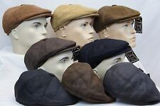100% SHEEPSKIN SHEARLING LEATHER Driving Newsboy Hat Golf Gatsby Cabbie 8  COLORS c7ee31d45c85