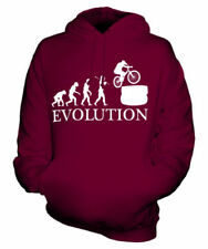 MOTO Trials Evolution of Man Unisex Felpa con cappuccio Uomo Donna Regalo Gioco