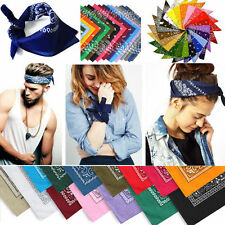 New Paisley Scarf Bandana Head wrap Cotton Head Wrap Neck Wristband Handkerchief