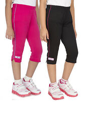 OCEAN RACE Girls Stylish Cotton Capri Combos-(3/4 Th Pant)-Pack of 2