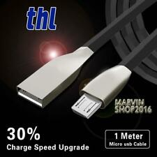 BLACK MICRO USB 2.0 ALLOY CABLE DATA SYNC CHARGING LEAD FOR THL Phones