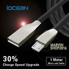 BLACK MICRO USB 2.0 ALLOY CABLE DATA SYNC CHARGING LEAD FOR iOcean Phones