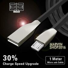 BLACK MICRO USB 2.0 ALLOY CABLE DATA SYNC CHARGING LEAD FOR Elephone Phones
