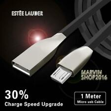 BLACK MICRO USB 2.0 ALLOY CABLE DATA SYNC CHARGING LEAD FOR Laude Phones