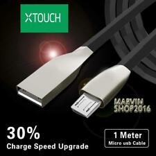 BLACK MICRO USB 2.0 ALLOY CABLE DATA SYNC CHARGING LEAD FOR Xtouch Phones