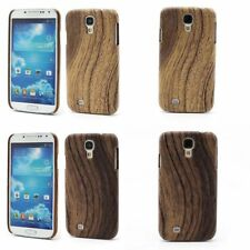 Wood Grain Leather Coated Case Back Cover for Samsung Galaxy S4 IV i9500 i9505