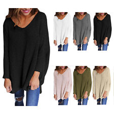 Pullover Loose Sweater Jumper Tops Knitwear Women Casual Long Sleeve Knitted