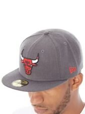 New Era Heather Grey NBA Chicago Bulls 59Fifty Fitted Cap