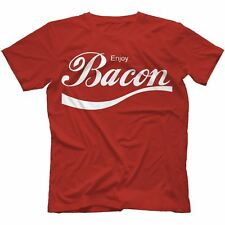Enjoy Bacon T-Shirt  WASTED SWAG FUNNY PRESENT GIFT NOVELTY