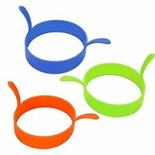 Silicone Egg Ring Round Fried Fry Cooking Utensils Colours Oven Poacher Pancake