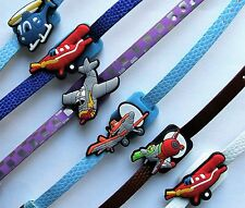 SHOE CHARM BRACELETS (D3) - inspired by PLANES - AEROPLANE - HELICOPTER -