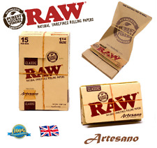 RAW ARTESANO CLASSIC REGULAR 1 1/4 Size Rolling Papers Roach Tips & Tray Paper