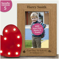 My First Day School Engraved Personalised Gifts 1st Keepsake Memory Photo Frame