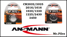 Batterie a bottone 3V litio Ansmann CR2032/2025/2016/1616/1620/1220/1225/