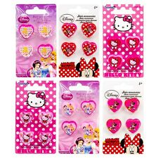 Set di 4 Clip per capelli DISNEY Principessa/Minnie Mouse/Hello Kitty - A043
