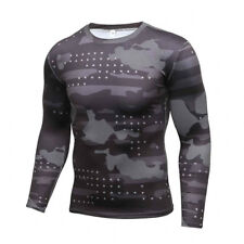 New Camouflage Military T Shirt Bodybuilding Tights Fitness Men Quick Dry Camo