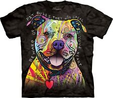 The Mountain Unisexe Adulte Attention A Pitbull T Shirt