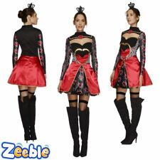 Womens Sexy Queen of Hearts Costume Ladies Fairytale Fancy Dress Outfit