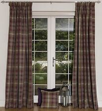 McAlister Textiles Angus | Plum Purple Tartan Curtains 90x90, Eyelet, Lined...
