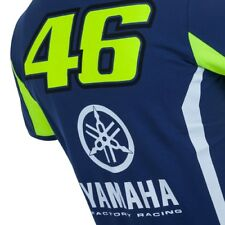 #46 VALENTINO ROSSI 2017 OFFICIAL TEAM YAMAHA M1 VR46 SPORTS RACING POLO T-SHIRT